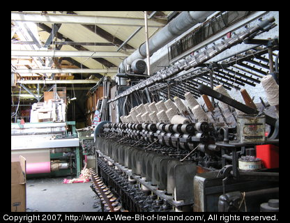 Machinery at the Kerry Woolen Mills.